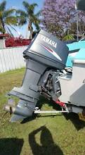 2010 Yamaha 90hp oil injected motor with 17 ft carribean runabout Greta Cessnock Area Preview