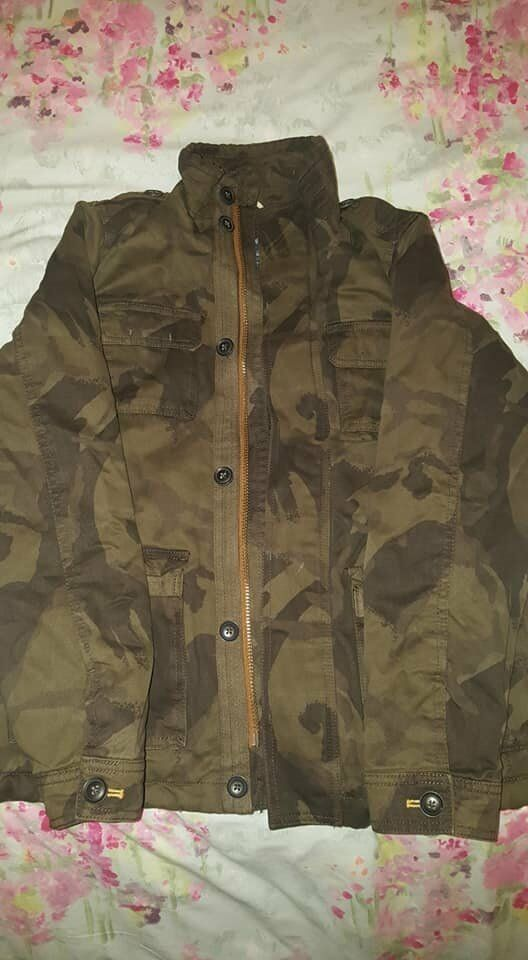 4591543e47a7 BOYS NEXT COAT CAMO STYLE PATTERN