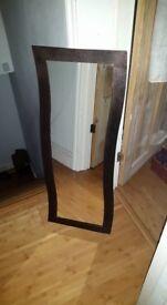 Art deco large designer metal copper hammered finish style mirror