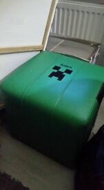 Small custom made Minecraft Stool with name