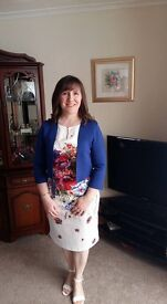 phase eight dress and matching jacket worn once to wedding size 14