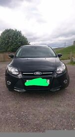 Ford focus zetec 1.6 TDCI, black in vcg with privacy glass