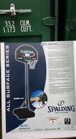 "Brand new 32 "" Spalding basketball system. Adjust hight 4.5 - 6.5 ft"