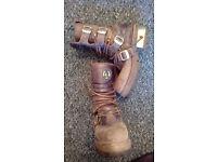 NEW ROCK Original Buckle fasten Boots (size 8)