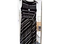 Brand new black and white dress