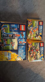 3 Lego Nexo Knights sets