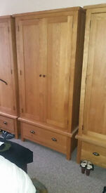 Solid Oak Wardrobes x 3