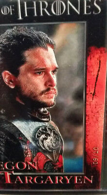 Aegon Targaryen   Kit Harrington   Game Of Thrones Season 7 Promo Card Vi