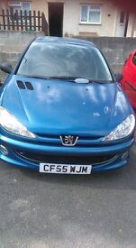 Peugeot 206 Verve. 5 doors and 5 seats. C/L .PAS. Front E/W. CD/Radio. A/C. MOT till October '17.