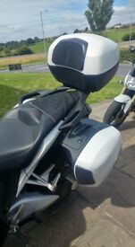 2010 Honda VFR 1200. Pearlescent white. Bargain. Matching white wheels,