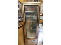 Commercial coffee machine and fridge