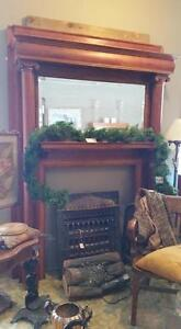 Antique Solid Cherry Fireplace mantel reg 3495.00 SALE 2595.00 Strathroy Antique Mall
