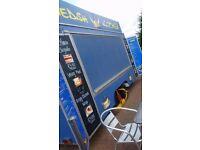 Catering trailer Lpg Equipment setup Gas Griddle Fryer burco petrol Generator water urn