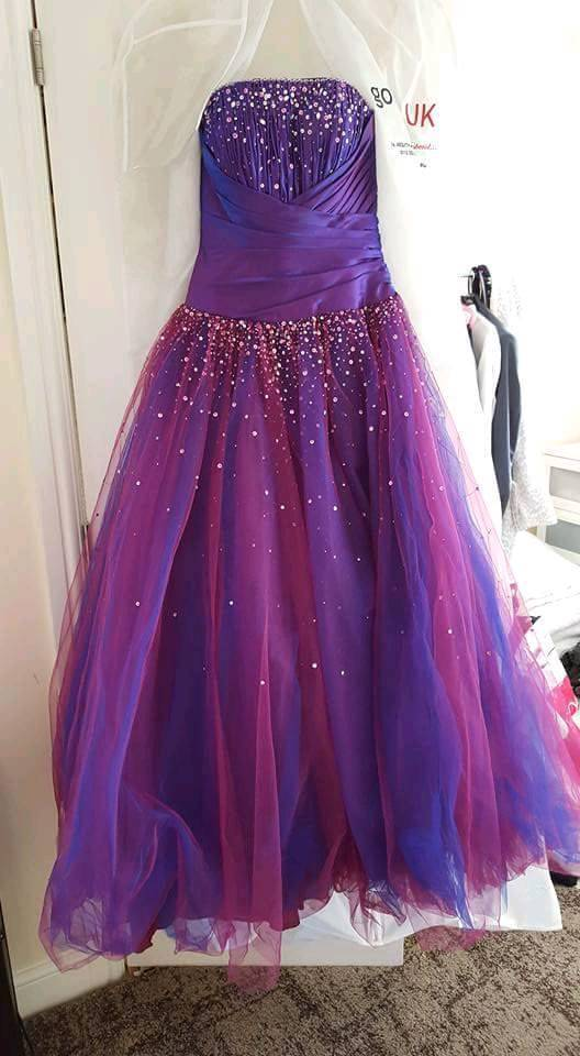 Purple prom dress REDUCED | in Crofton, West Yorkshire | Gumtree