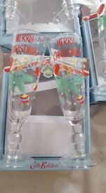 Cath kidston Christmas Flutes used once excellent condition £25 per set 3 sets available
