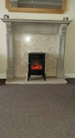 Fire Surround with Marble Hearth & Back