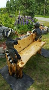 Chain saw carvings big and small