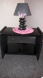 2 x (painted) black bedside tables