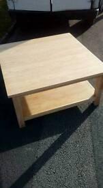 American oak coffee table