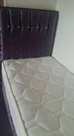 Single Divan Bed with Storage and Mattress - as new!