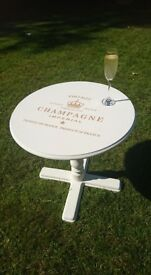 Hand Painted Vintage Champagne Table in Annie Sloan Old White