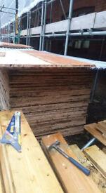 Playwood,iron beams,joists
