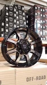 New GLOSS BLACK MACHINED 20x9 WHEELS!! 5, 6 and 8 bolt - FORD F150 F250 F350 RAM 1500 2500 3500 CHEVY GMC 8X180 - 861