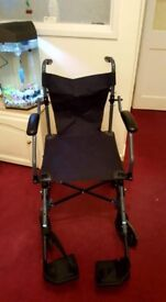 Lightweight travel wheelchair with carry case