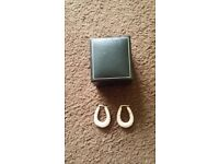 In gift box is a lovely pair of women's 9ct gold earrings !