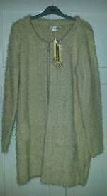 Voulez Vous Hairy Basket Weave Cardigan Size S/M NEW WITH TAGS