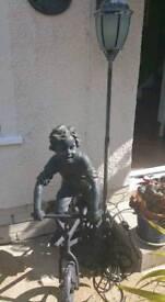 OUTSIDE LAMP ..BOY ON BIKE