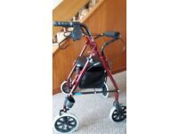 4 WHEEL ROLLATOR WITH SEAT * WALKING AID * MOBILITY AID