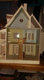 Beautiful handmade wooden doll's house