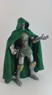 Custom Cloak Green with hood for Marvel Legends Doctor Doom male body NO FIGURE