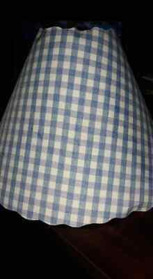 Blue Gingham Lamp Shade Blue Gingham Lamp Shade