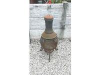 cast iron garden burner / log burner / patio / decking area / chiminea / garden / outdoor burner
