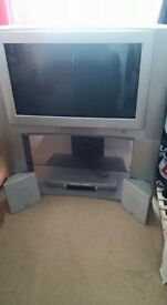 "26"" JVC tv and stand incl speakers"