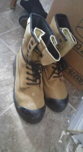 Steel toe boots and under armour basketball shoes