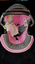 Hauck Zero Plus Group 0+ Car Seat Pink and Grey New unused