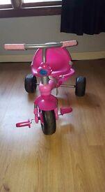 Pink princess 3 in 1 smart trike