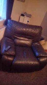 3 seater sofa an a chair 2 different colours but amazing condition.