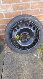2008 VAUXHALL SPACE SAVER SPARE WHEEL with new tyre