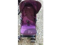 Silver Cross purple pushchair