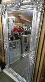 Large platinum silver full length mirror!!! New