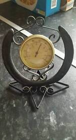 Vintage horse shoe thermometer