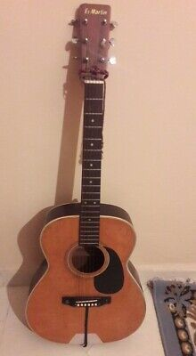 Martin String Acoustic Guitar Vintage Rare Tested Used