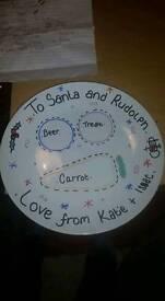 Christmas eve plates ( personalised )