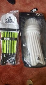 Adidas cricket pads and gloves