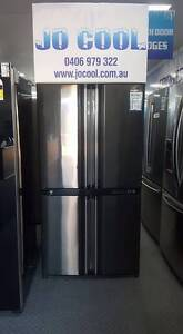 STUNNING 602L Sharp 4 door Fridge/Freezer Canning Vale Canning Area Preview