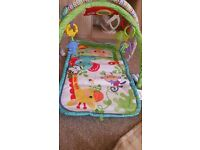 Fisher-price nearly new baby play mat with all toys